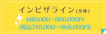 インビザライン 580000~780000円